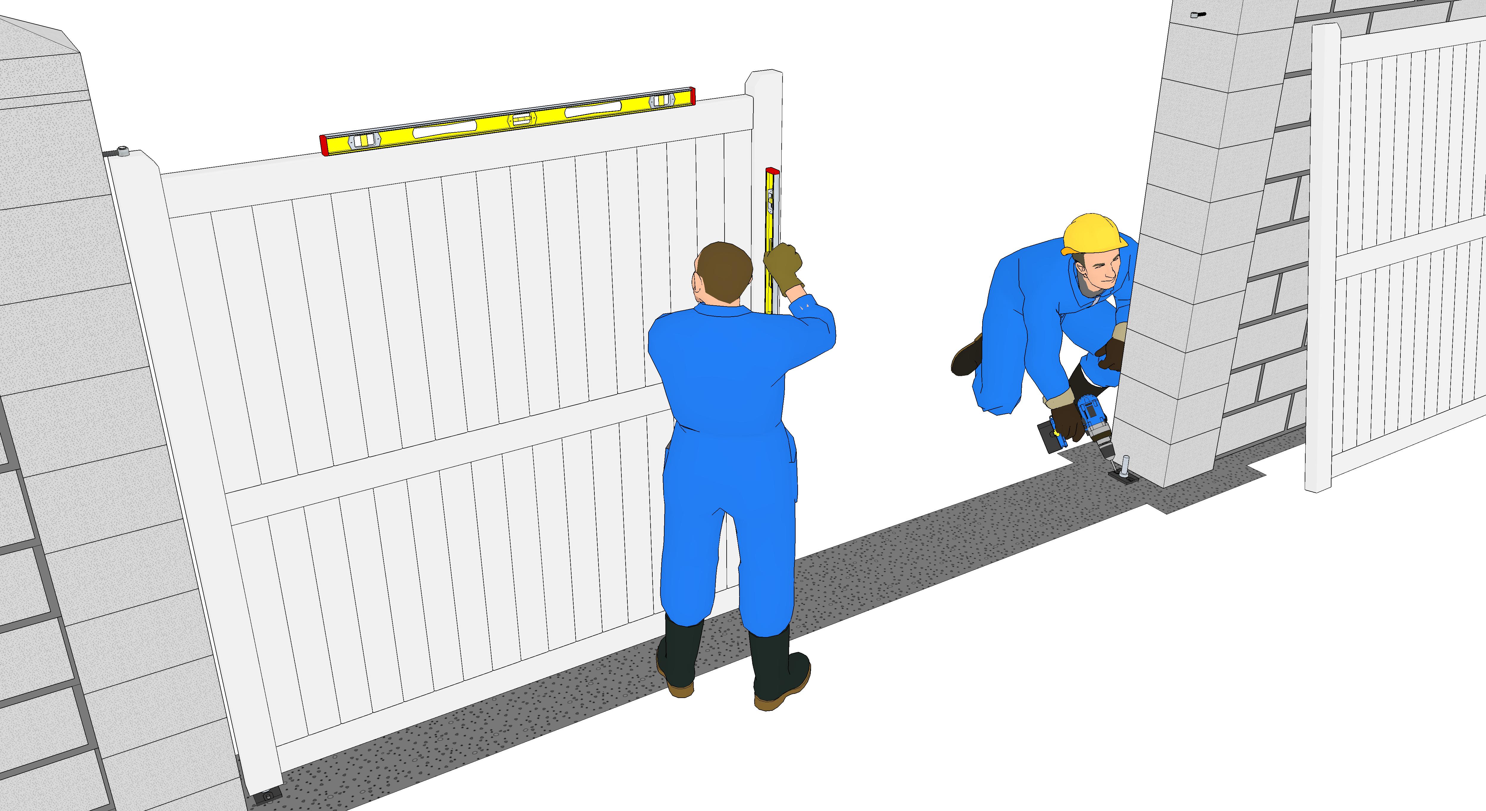 Fixation des portails